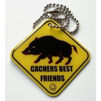 Cache Zone Trackable tag Geocacher's best Friend - Zwijn