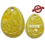 CacheQuarter Paasei geocoin - geel glow goud XLE