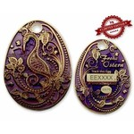 CacheQuarter Paasei geocoin - violet goud XLE