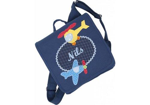 crêpes suzette crepes suzette Kindergartentasche mit Namen, Motiv:  Hubschrauber