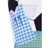 Schultüte aus Stoff, Trikot und Fußball  Farbe : Schwarz Weiß Grün