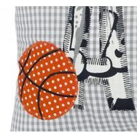 Namenskissen für coole Basketballer, Farbe: Grau kariert