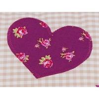 Namenskissen Blumen und Schmetterling, Farbe: Beige