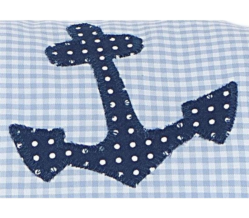 Namenskissen zur Geburt mit kleiner Matrosen - Ente aus Teddyplüsch