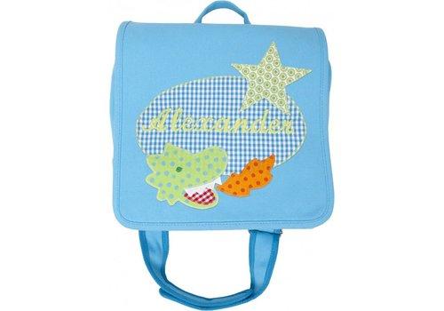 crêpes suzette crêpes suzette Kindergartentasche mit Namen bestickt mit kleinem Drachen