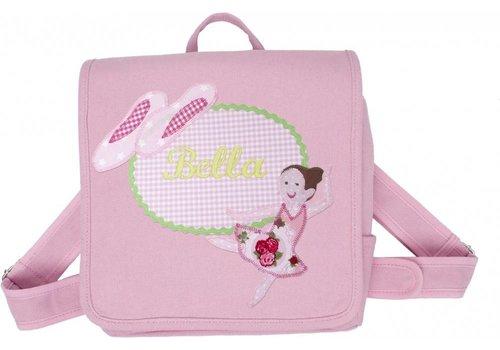crêpes suzette crêpes suzette Kindergartentasche mit Namen bestickt und Ballerina
