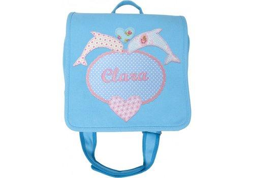 crêpes suzette crêpes suzette Kindergartentasche mit Namen bestickt mit Delfin
