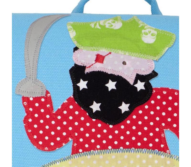 Kindergartentasche mit Namen bestickt für Piraten