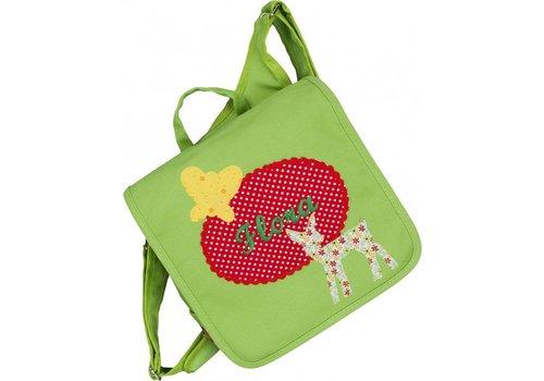 crêpes suzette crêpes suzette Kindergartentasche / Rucksack mit Namen bestickt. Reh und Schmetterling
