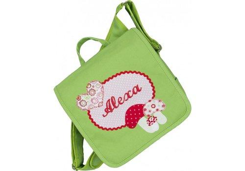 crêpes suzette crêpes suzette Kindergartentasche / Rucksack mit Namen bestickt. Glückspilz, Fliegenpilz, Pilz