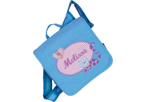 crêpes suzette crêpes suzette Kindergartentasche mit Namen bestickt - zum Kinderrucksack wandelbar.Motiv: Katze