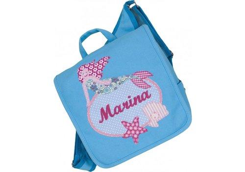 crêpes suzette crêpes suzette Kindergartentasche mit Namen bestickt - zum Kinderrucksack wandelbar. Motiv: Meerjungfrau