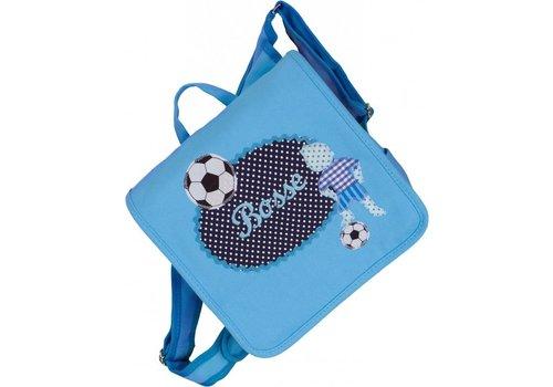 crêpes suzette crêpes suzette Kindergartentasche mit Namen bestickt - zum Kinderrucksack wandelbar. Motiv: Fussballer
