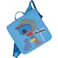 Kindergartentasche mit Namen bestickt - zum Kinderrucksack wandelbar. Baumhaus