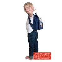 Kindergartentasche wandelbar zum Rucksack mit Namen bestickt. Motiv: Hase
