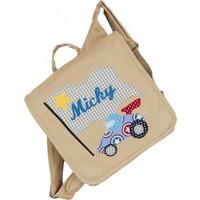 Kindergartentasche wandelbar zum Rucksack mit Namen bestickt Motiv:Rennauto