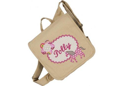 crêpes suzette crêpes suzette Kindergartentasche mit Namen bestickt - zum Kinderrucksack wandelbar. Pferd