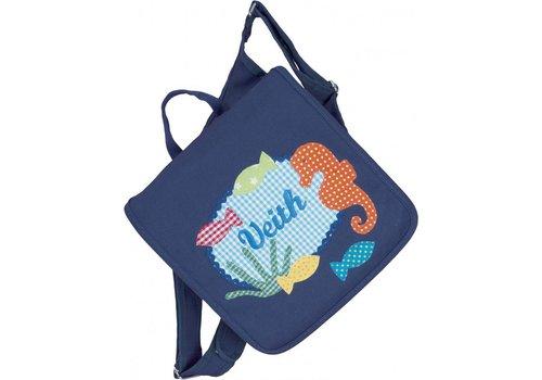 crêpes suzette crêpes suzette Kindergartentasche und Rucksack in einem mit Namen bestickt Motiv: Unterwasserwelt