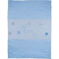 Krabbeldecke, Bettwäsche, Namensdecke,Stern Sterne Decke mit Namen