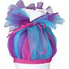 crêpes suzette Tüll für Schultüte, Stoffschultüte Tüll, Farbe: Pink, Türkis, Lila