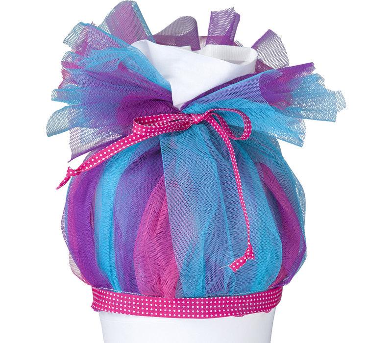 Tüll für Schultüte, Stoffschultüte Tüll, Farbe: Pink, Türkis, Lila