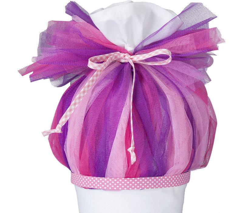 Tüll für Schultüte, Stoffschultüte Tüll, Farbe: pink, rosa, lila