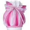 crêpes suzette Tüll für Schultüte, Stoffschultüte Tüll, Farbe: pink, rosa, weiß