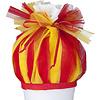 crêpes suzette Tüll für Schultüte, Stoffschultüte Tüll, Farbe: rot, gelb