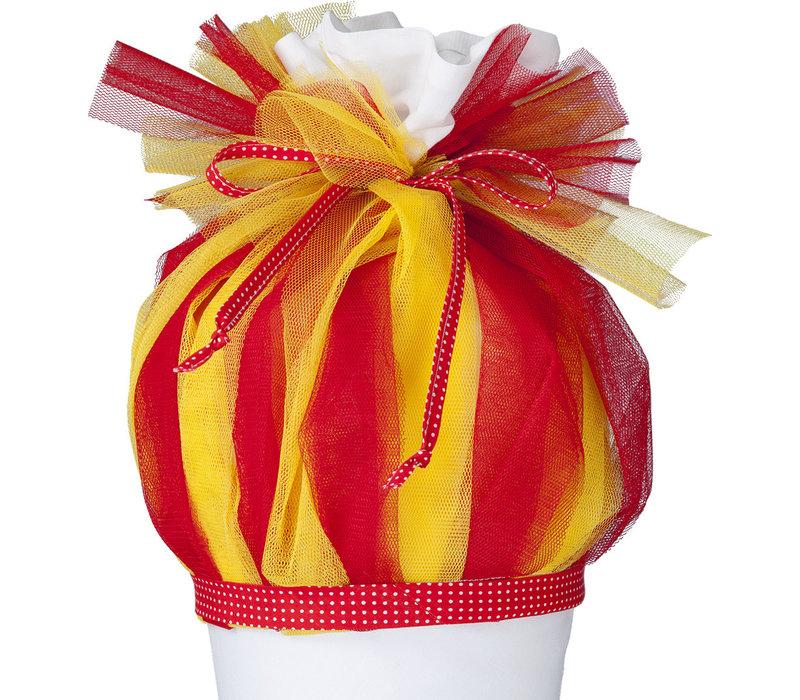 Tüll für Schultüte, Stoffschultüte Tüll, Farbe: rot, gelb