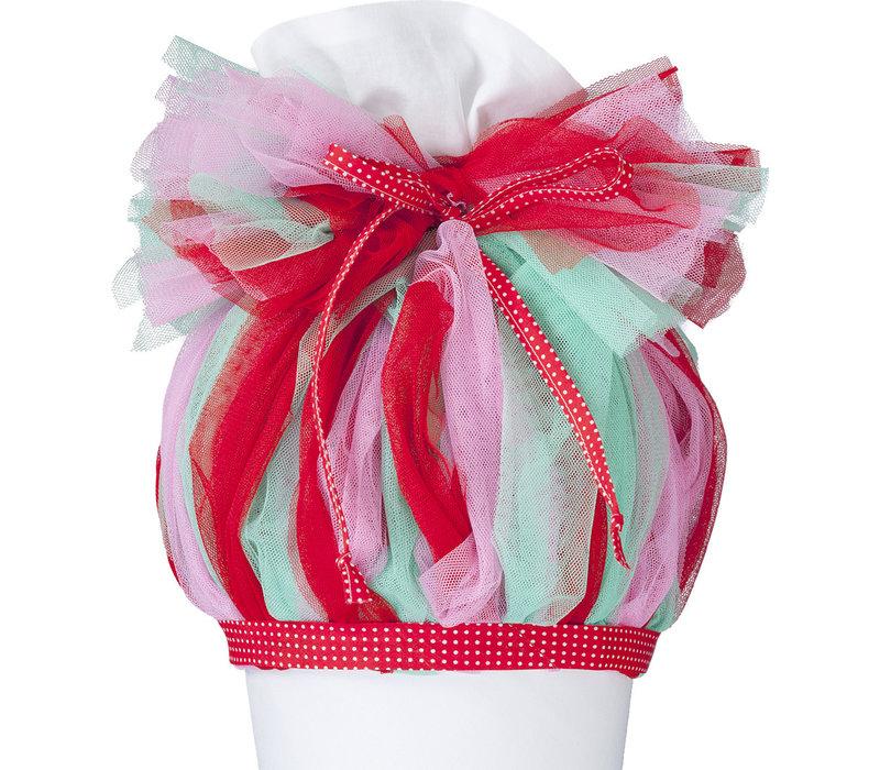 Tüll für Schultüte, Stoffschultüte Tüll, Farbe:  Rosa, Rot, Mint