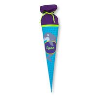 Schultüte aus Stoff Delfin für Mädchen, Farbe Lila