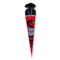 Schultüte aus Stoff,Schlange Farbe : Schwarz  Rot
