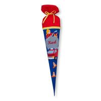 Schultüte aus Stoff,  Feuerwehr  Farbe : Blau, Rot