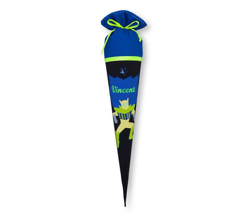 Schultüte aus Stoff, Roboter Farbe : Schwarz Blau