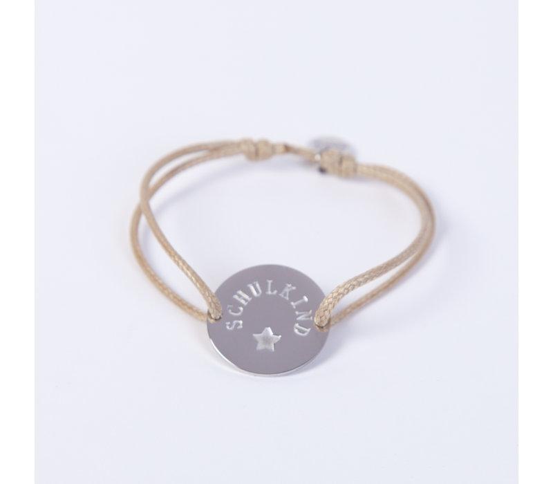 Schulkind Armband für Mädchen und Jungen, Farbe Beige