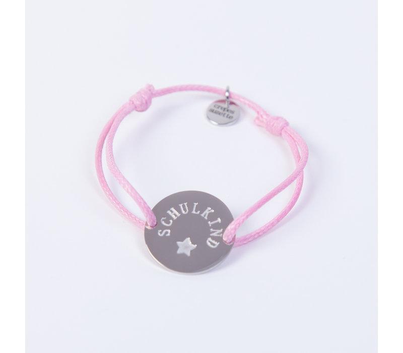 Schulkind Armband für Mädchen und Jungen, Farbe Rosa
