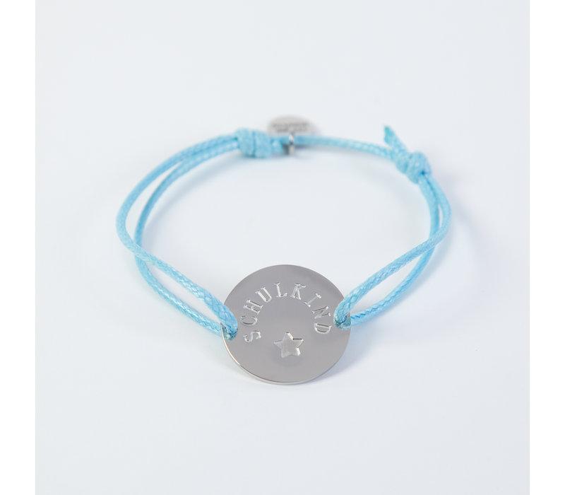 Schulkind Armband für Mädchen und Jungen, Farbe Hellblau