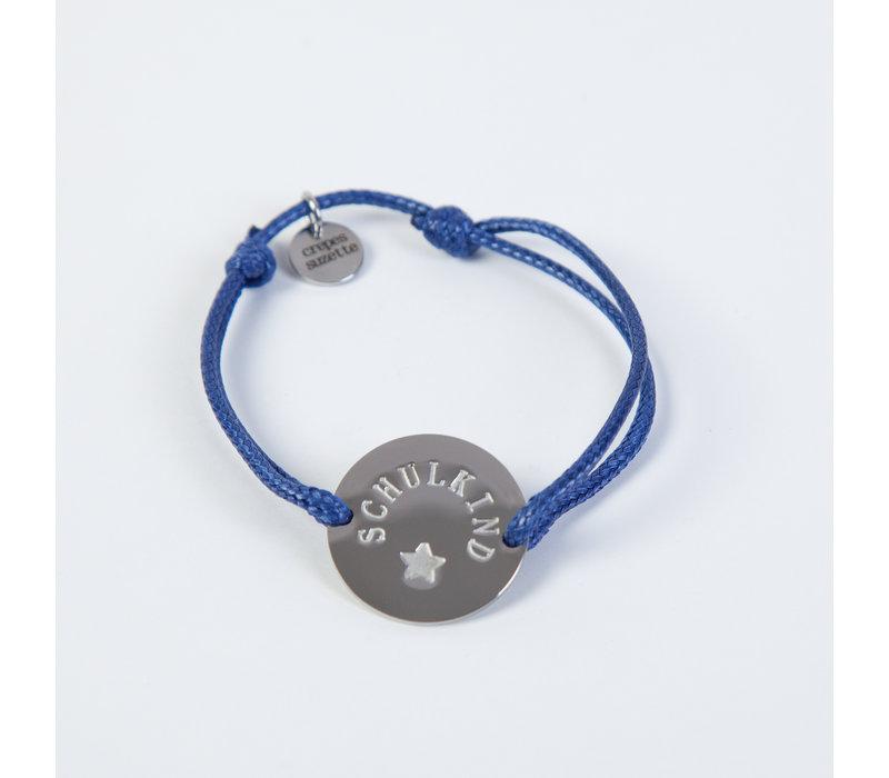Schulkind Armband für Mädchen und Jungen, Farbe Blau