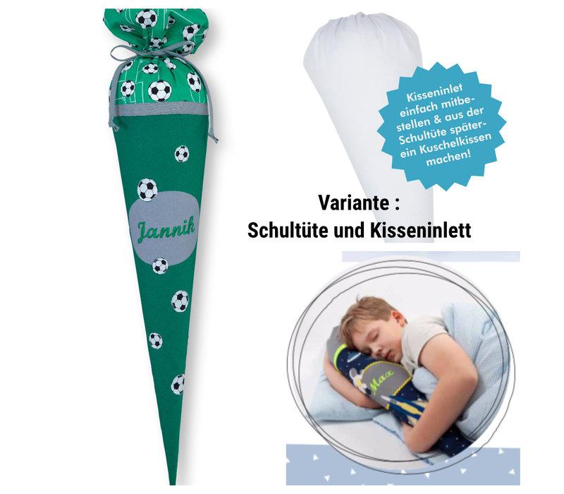 Schultüte aus Stoff,  Fussball  Farbe : Grün