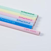 Schulkind - Bleistift, Geschenk zur Einschulung in vielen bunten Farben