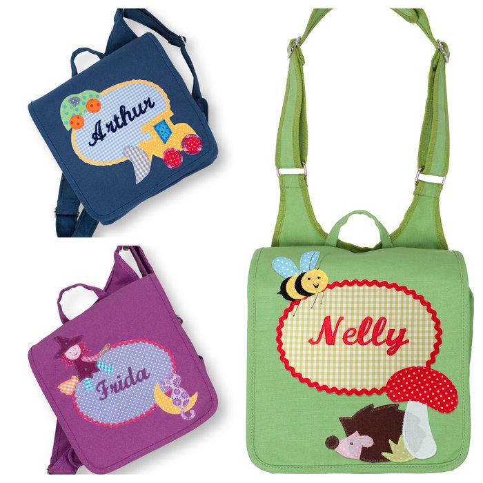 Kindergartentaschen mit Namen