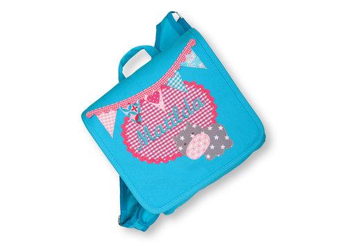 crêpes suzette crêpes suzette Kindergartentasche wandelbar zum Rucksack mit Namen bestickt. Nilpferd