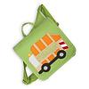 crêpes suzette Kindergartentasche / Rucksack mit Namen bestickt. Müllauto