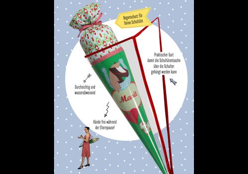 crêpes suzette Tasche für Stoffschultüten , Regenschutz für die Schultüte