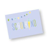 Postkarte Schulkind für Jungs