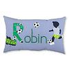 crêpes suzette Kissen mit Namen für kleine Fussballfans, Farbe: Blau