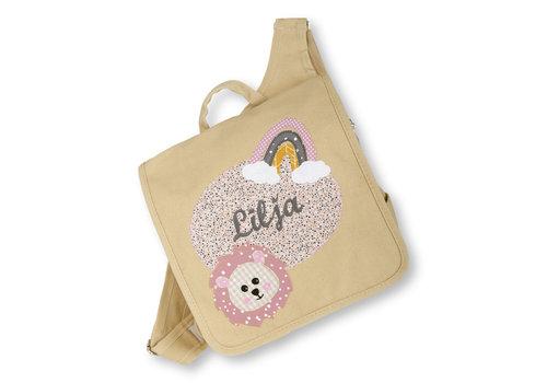 crêpes suzette crêpes suzette Kindergartentasche wandelbar zum Rucksack mit Namen bestickt Regenbogen