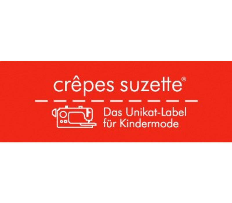crêpes suzette Kindergartentasche wandelbar zum Rucksack mit Namen bestickt, Faultier in Beige