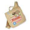 crêpes suzette crêpes suzette Kindergartentasche wandelbar zum Rucksack mit Namen bestickt, Faultier in Beige