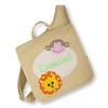 crêpes suzette Kindergartentasche mit Namen bestickt Motiv: Löwe und Affe